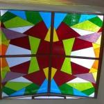 Reformas claraboya de 18 m2 con vidrio de colores