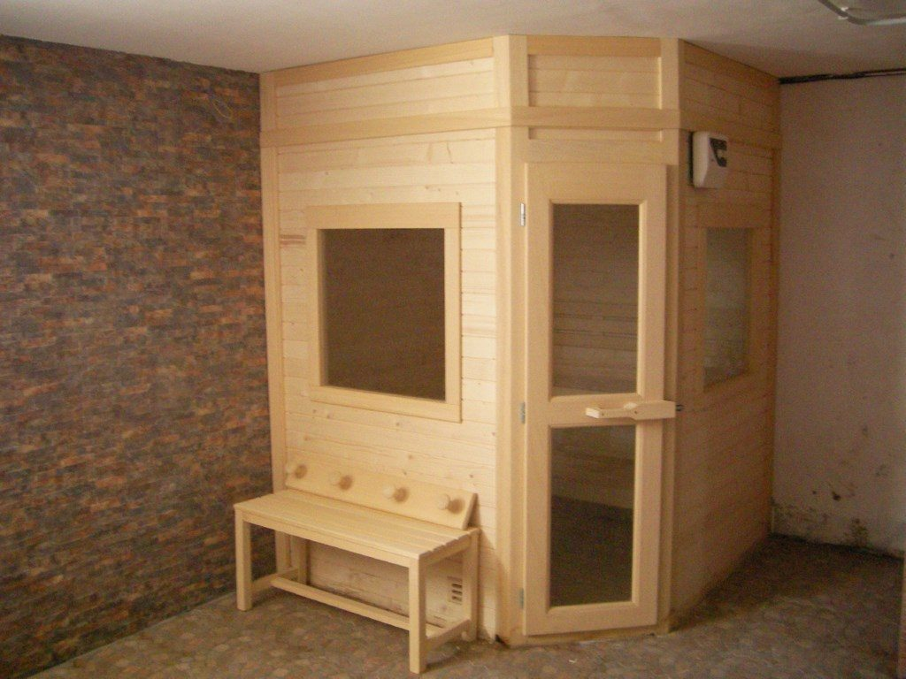 Sauna pentagonal